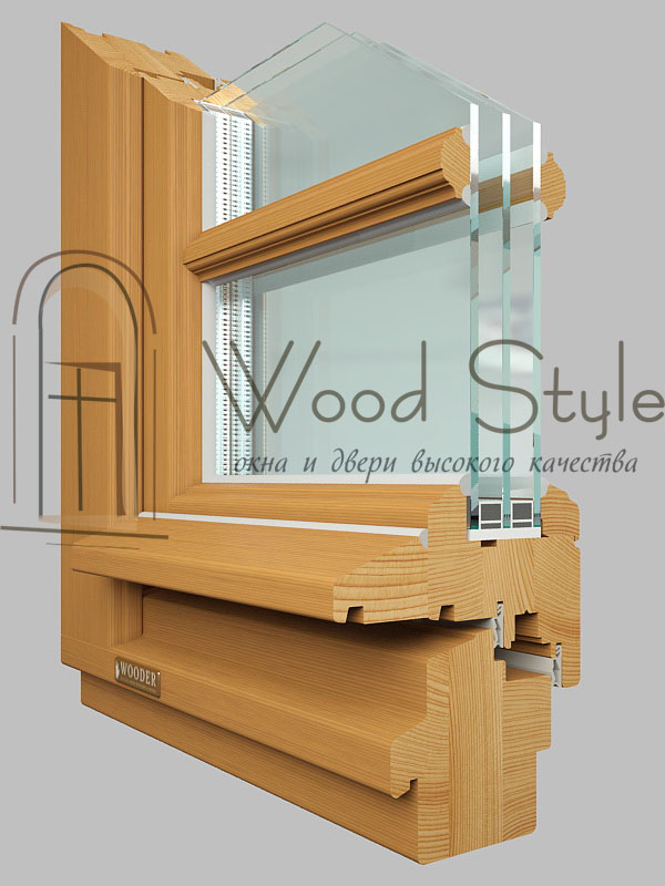 Деревянные окна-78 Classic