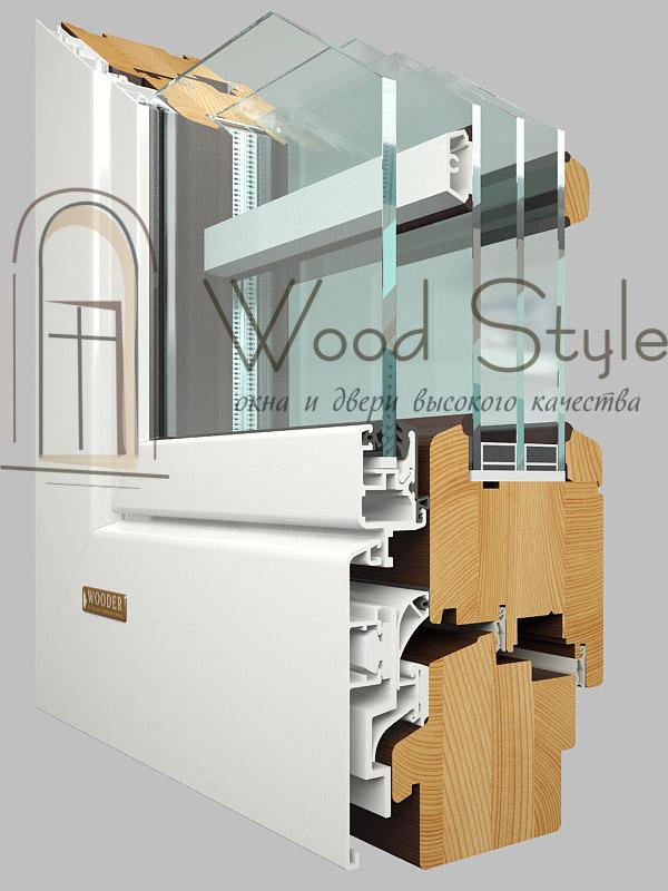 Деревянные окна-AL90 Acoustic
