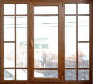 Деревянные окна из меранти